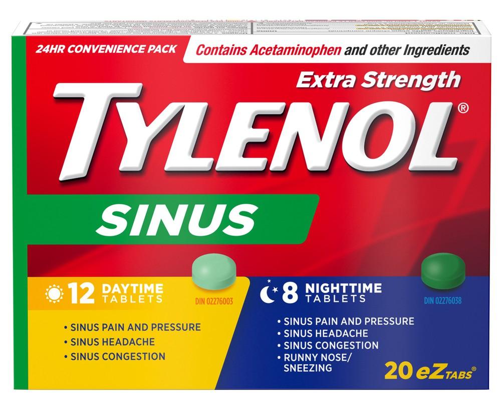 Tylenol Sinus Xst Dy/Nt 12+8