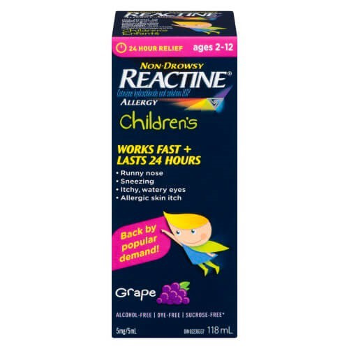 Reactine Child Grape