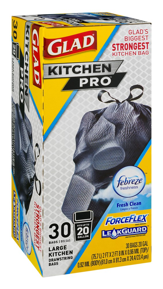 Kitchen Pro Fresh Clean Scent Large Drawstring Bags Glad 30 Ct Delivery Cornershop By Uber