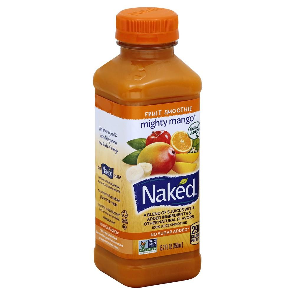 Naked Juice Smoothie Pure Fruit Orange Mango - 15.2 Fl. Oz
