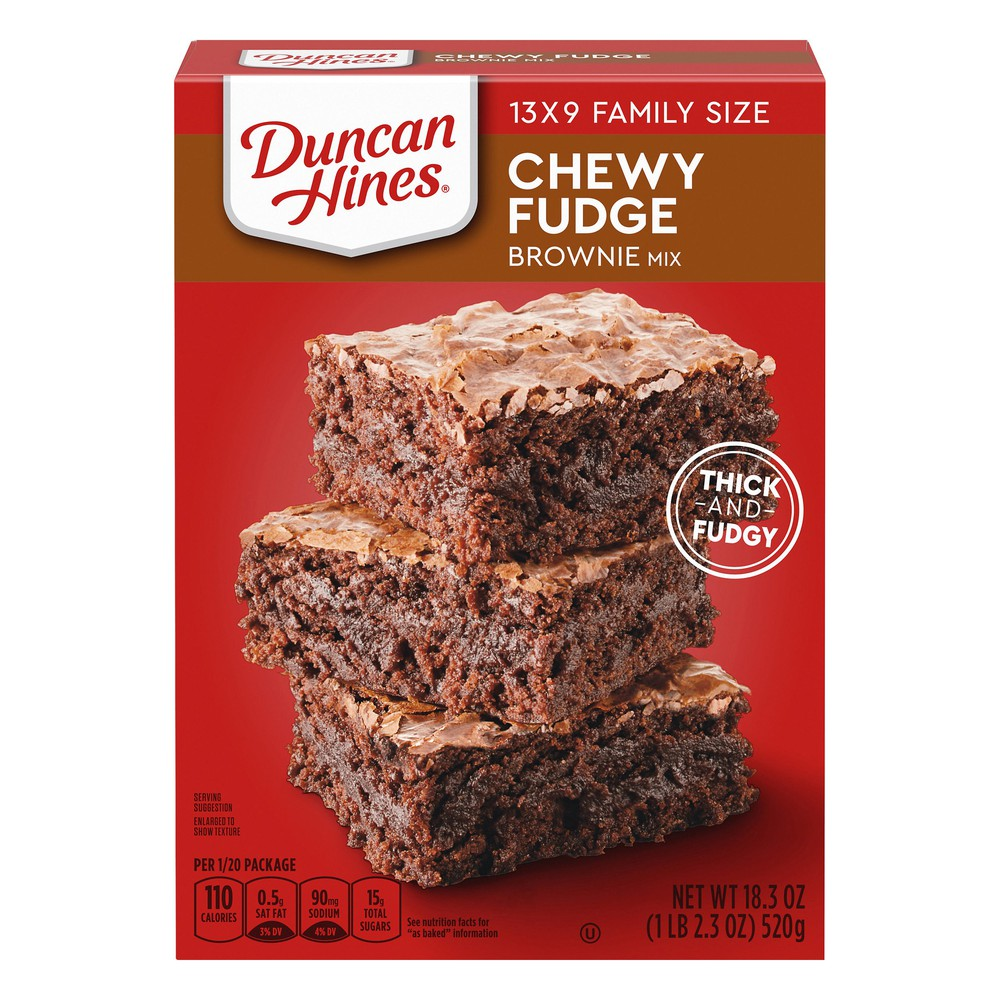 Duncan Hines Brownie Mix Chewy Fudge Brownies Family Size Box