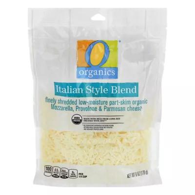 Organic Cheese Finely Shredded Low-Moisture Part-Skim Italian Blend