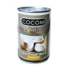 Leche de coco light organica