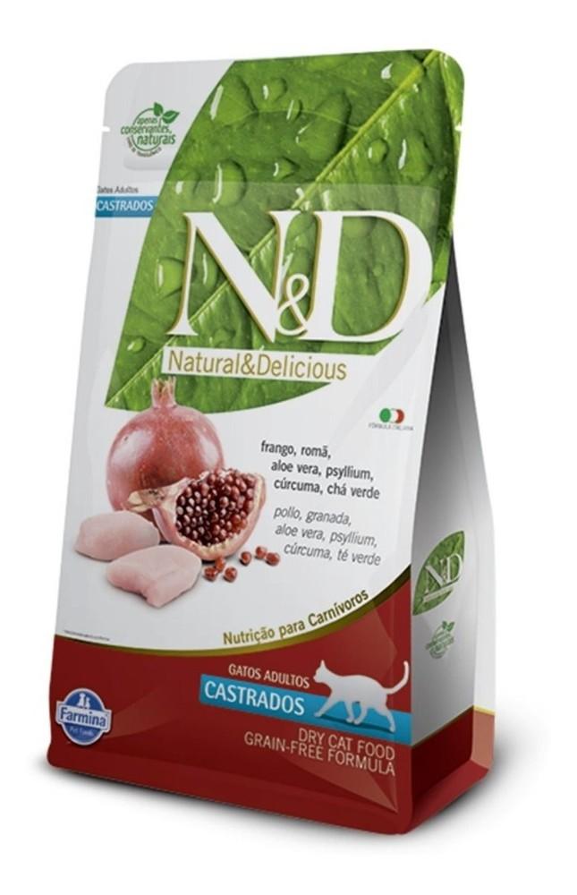N&d grain free gatos adultos castrados