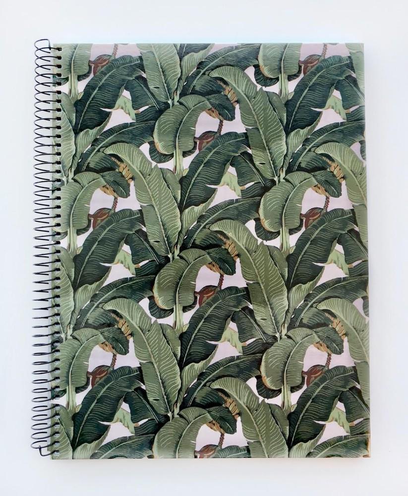 Cuaderno grande anillado cuadriculado - hoja banana