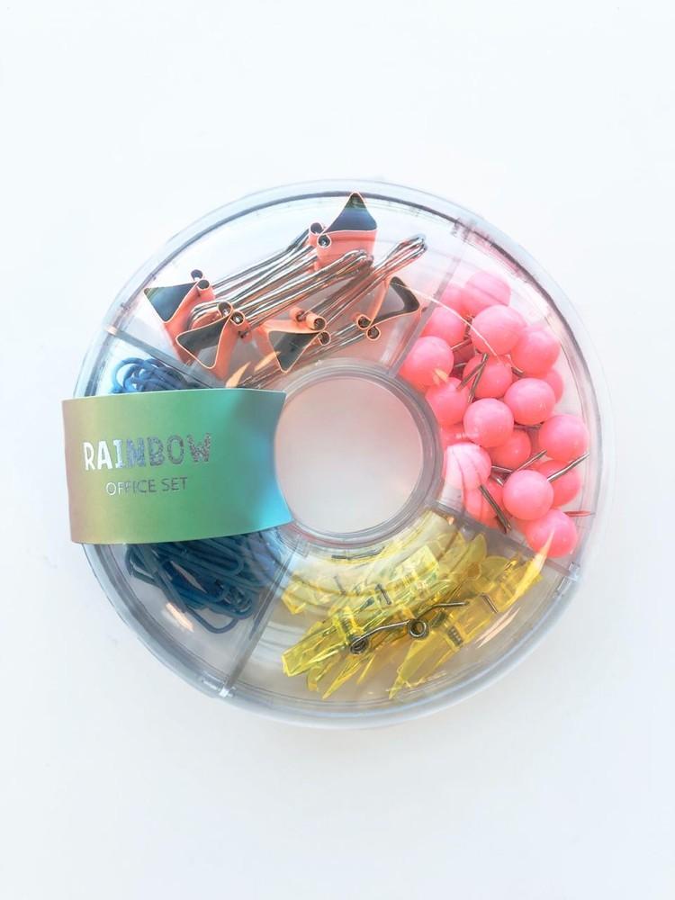 Set clips colors arcoiris