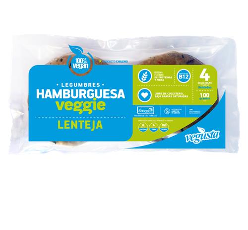 Hamburguesa veggie lentejas bolsa 400 g