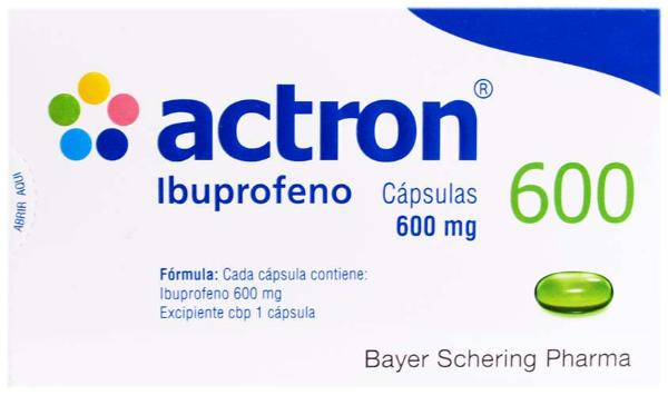 Actron ibuprofeno cápsulas 600 mg