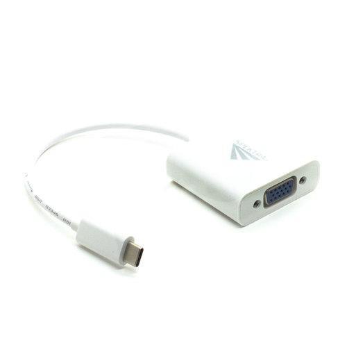 Adaptador USB-C a VGA blanco