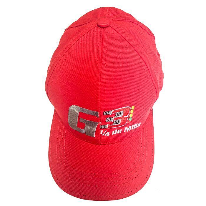 Gorra del club g3 1/4 de milla roja Talla única