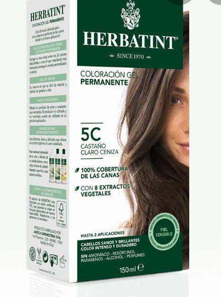 5C tintura permanente natural Frasco 150 gr