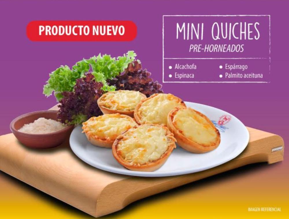 Mini quiches alcachofa