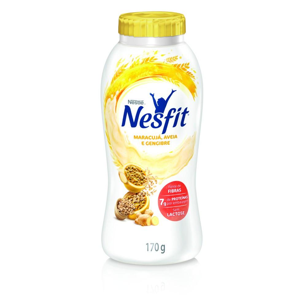 Iogurte maracujá, gengibre e aveia Nesfit