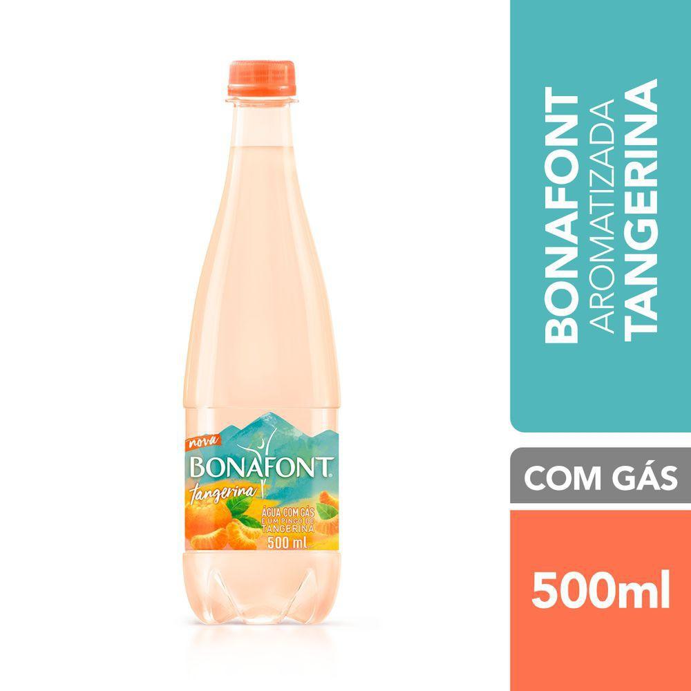 Água aromatizada com gás tangerina