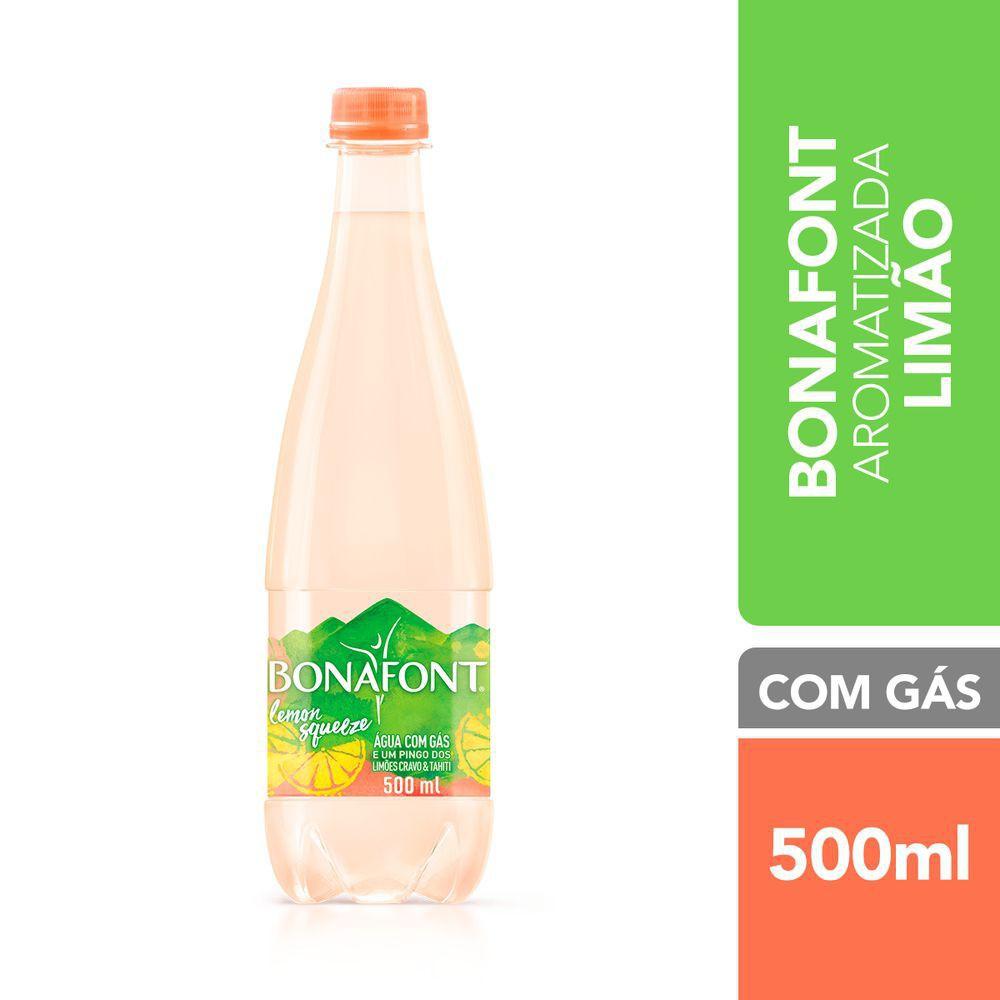 Água mineral lemon squeeze com gás
