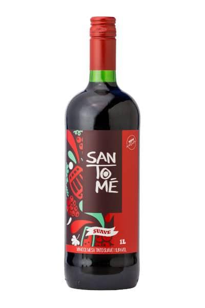 Vinho brasileiro tinto suave SanTomé