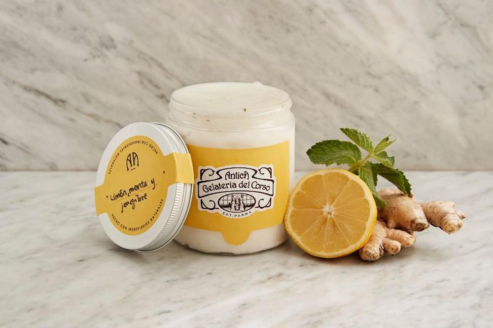 Sorbete limón, menta y jengibre 450 ml
