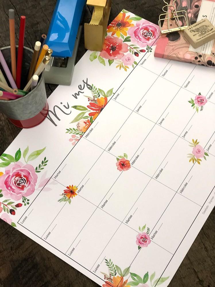 Organizador escritorio XL · Flores Mi Mes