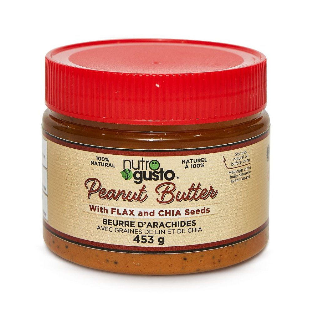 Natural peanut butter with flax and chia 453g