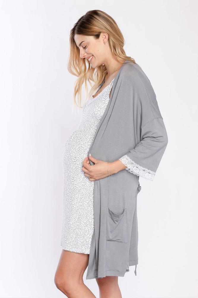 Bata kimono gris Talla: TU Color: Gris
