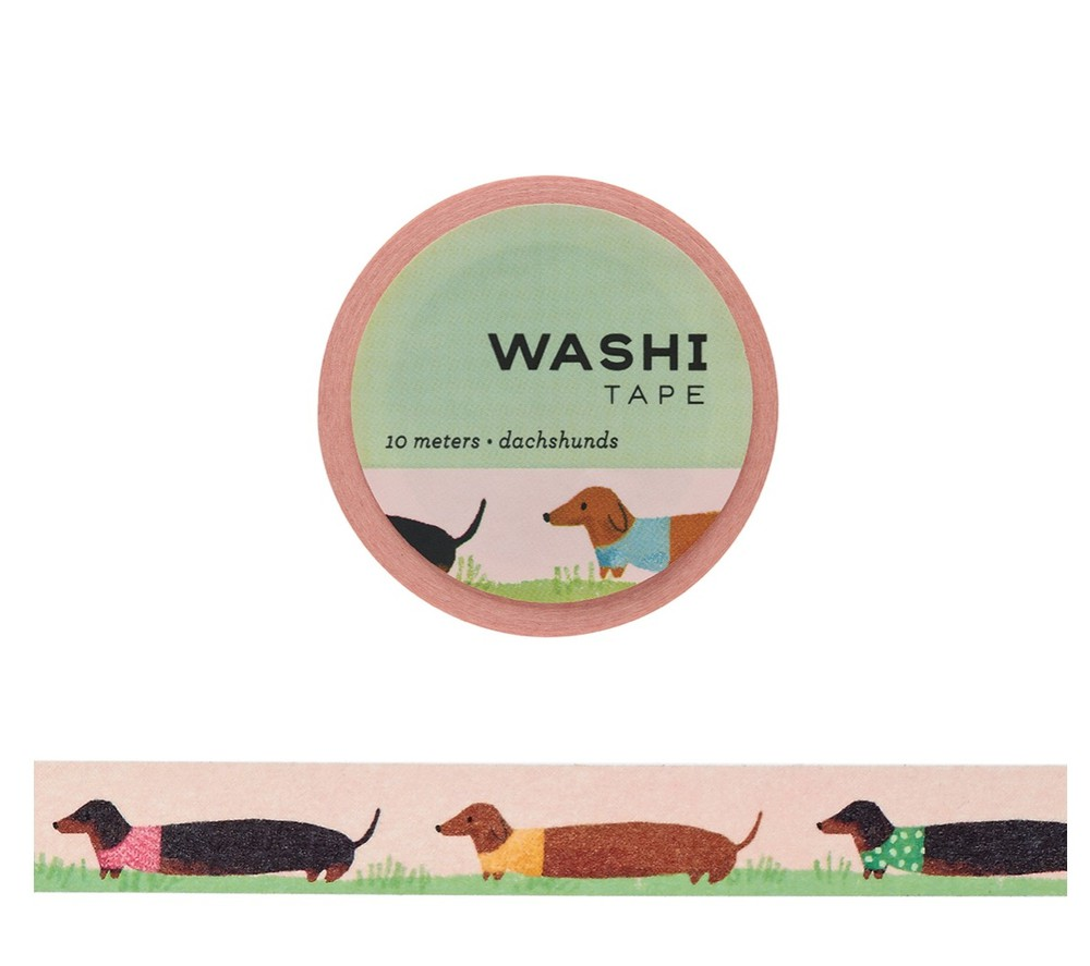 Washi tape perro salchica