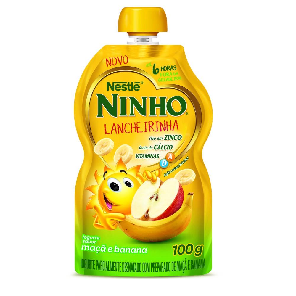 Iogurte maçã e banana Ninho