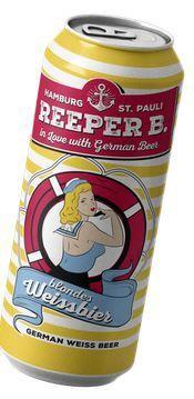 Cerveza reeeper weissbier 5.4º 500 c.c.