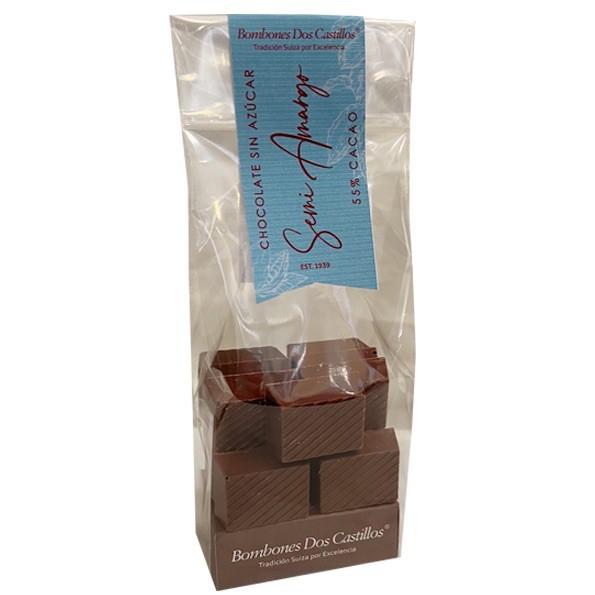 Chocolate 37% Cacao SIN AZÚCAR Bolsa 100 g