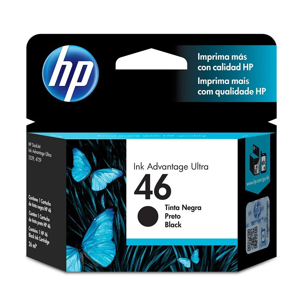 Tinta Cartridge Hp 46 Cz637Al Negro