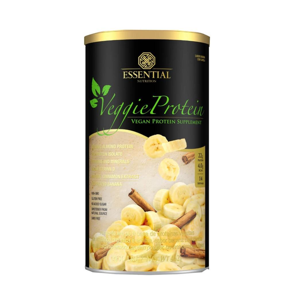 Suplemento veggie protein banana com canela