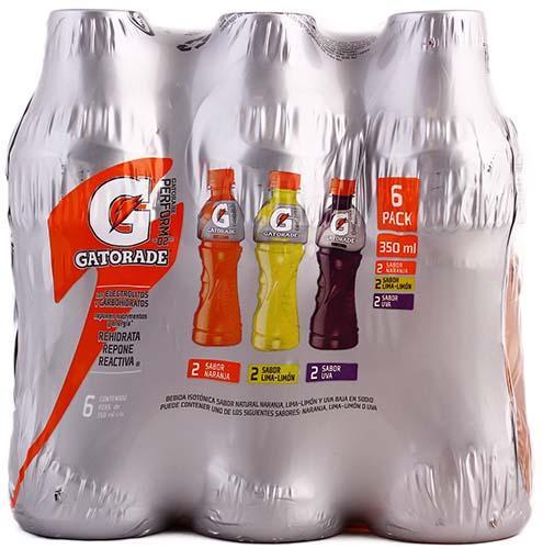 Bebida deportiva 6 pack