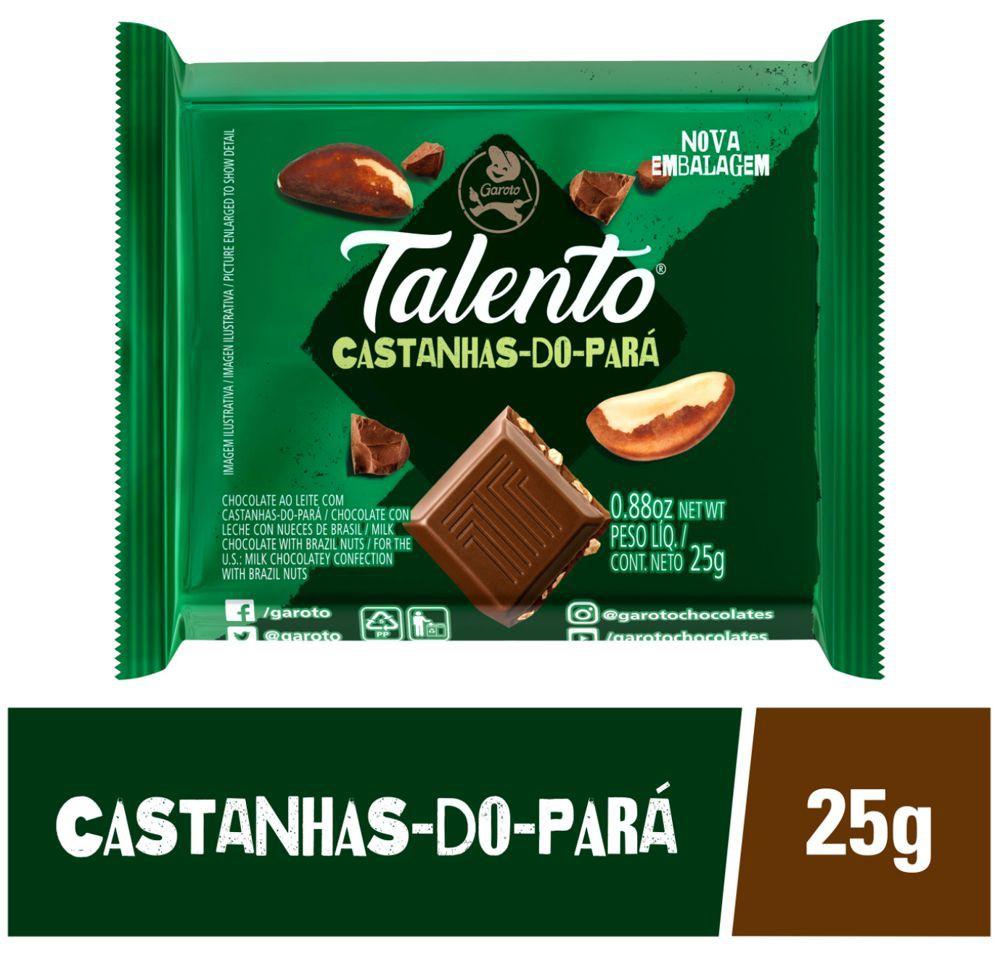 Chocolate ao leite com castanhas-do-Pará Talento