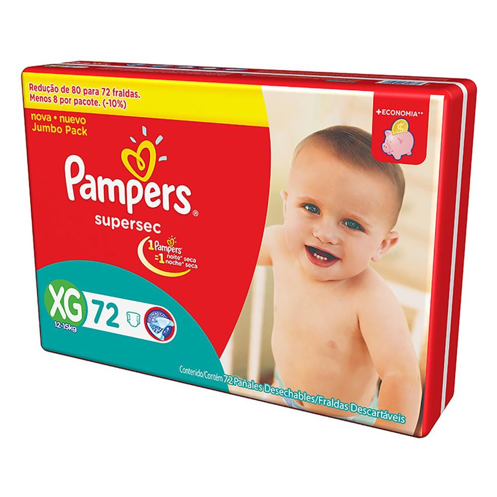 Fralda Pampers XG Supersec Jumbo -