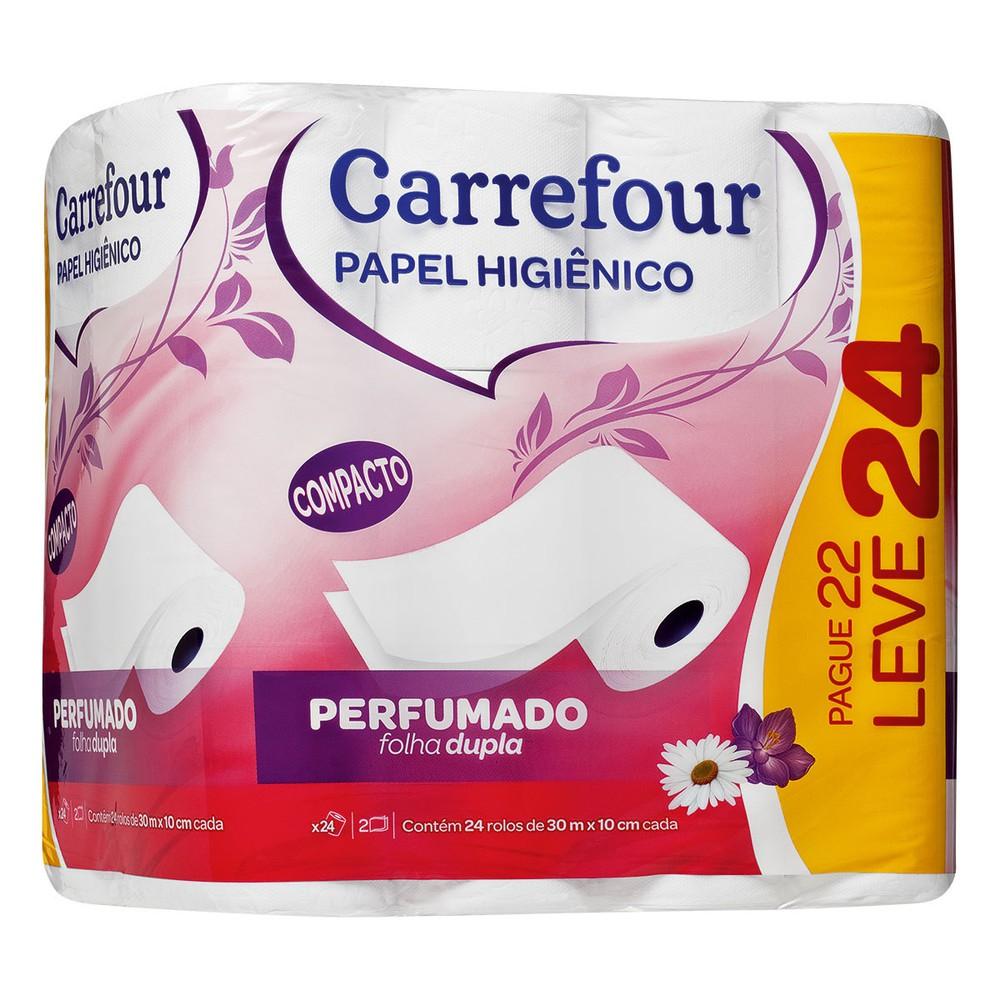Papel Higiênico Folha Dupla etros Carrefour Pague 22 Leve 24