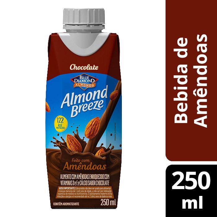 Bebida de amêndoas chocolate
