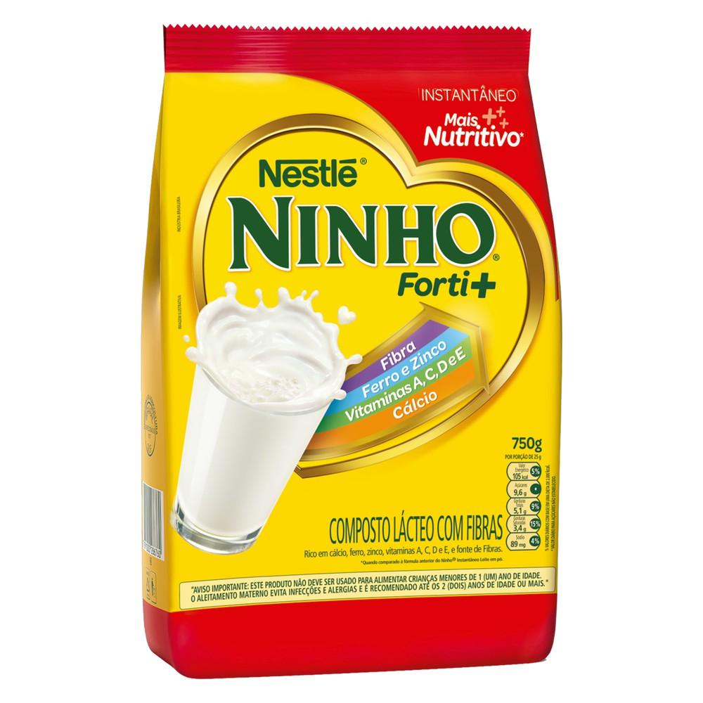 Composto lácteo com fibras instantêneo forti+ Ninho