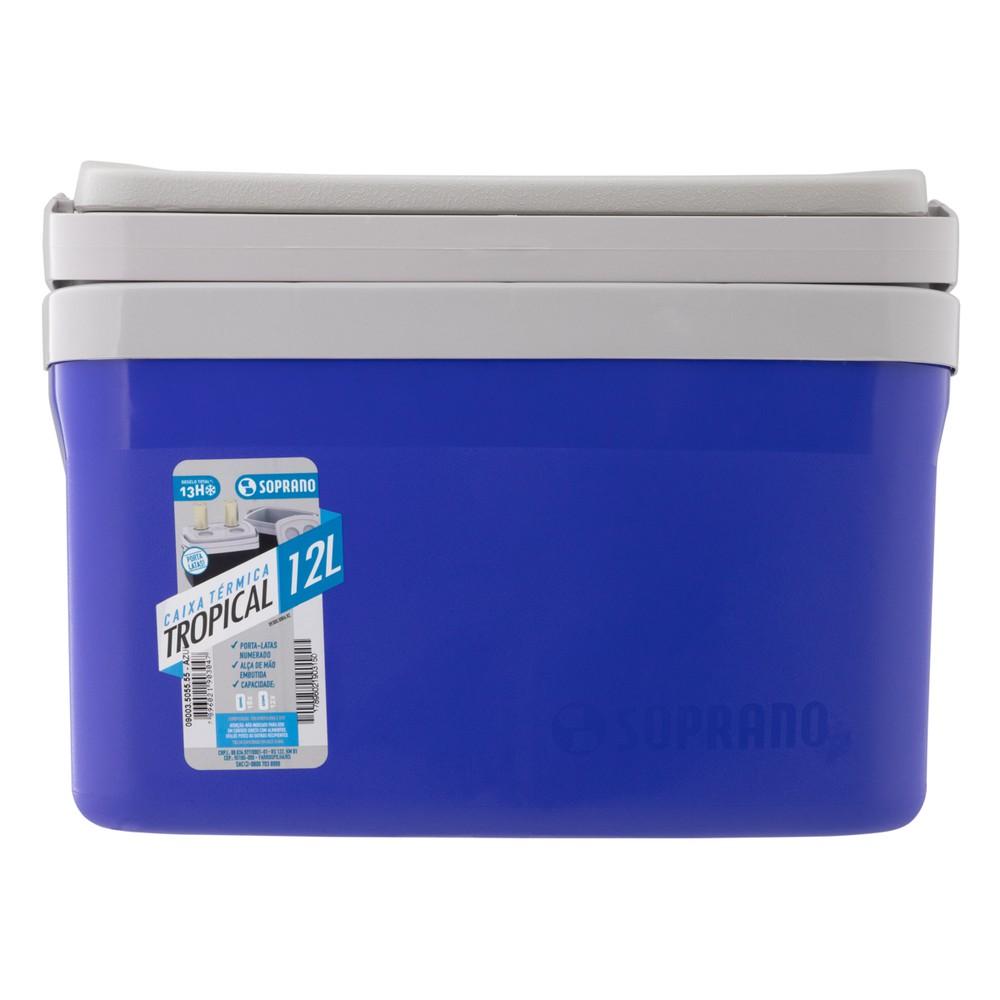 Caixa Térmica Azul Tropical 12l Soprano