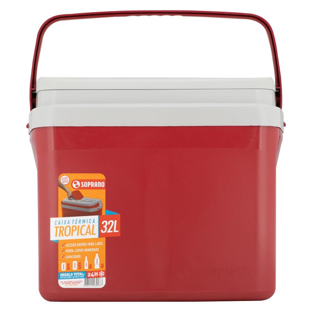 Caixa térmica vermelha tropical