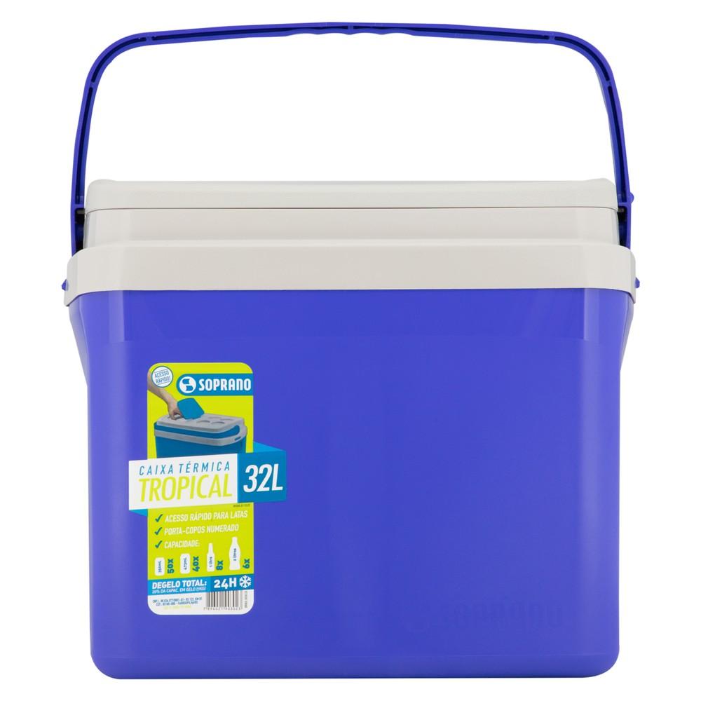 Caixa térmica azul tropical