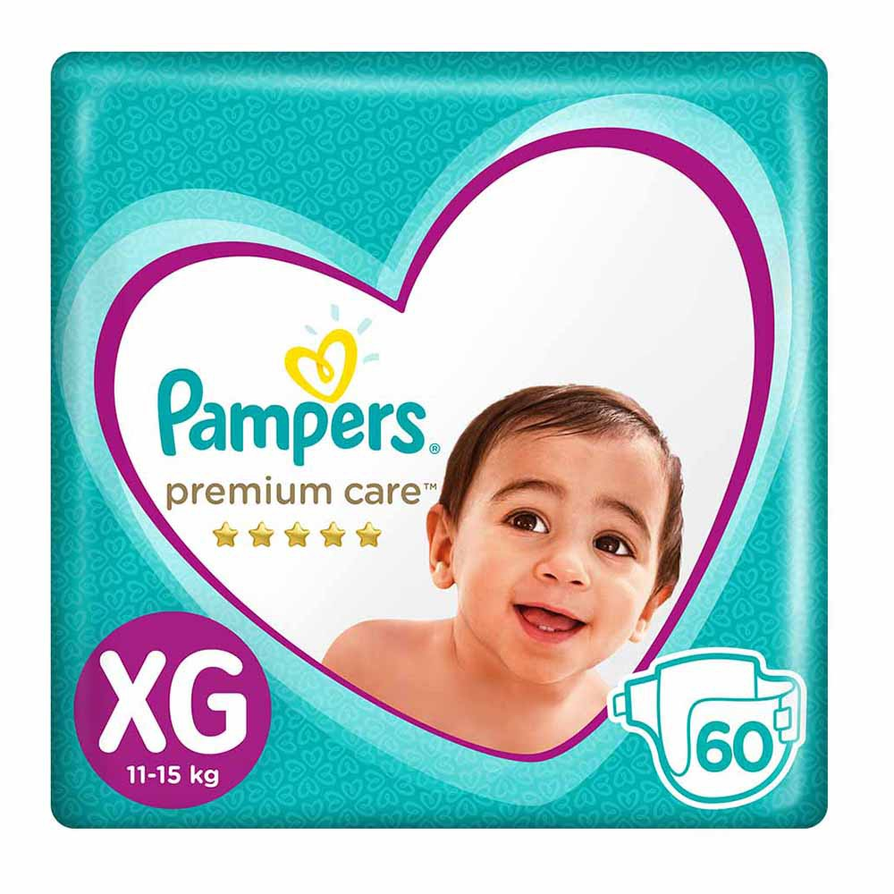 Pañales Para Bebé Pampers Premium Care Talla Xg Megapack Paquete