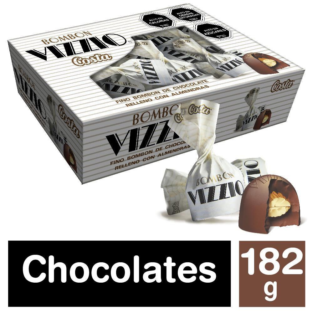 Bombones chocolate con almendras Vizzio