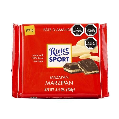 Chocolate relleno con mazapán