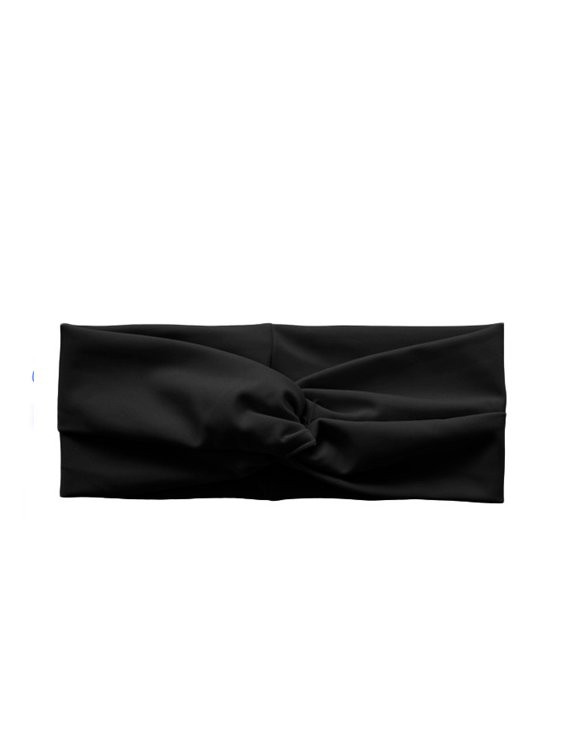 Cintillo de lycra negro