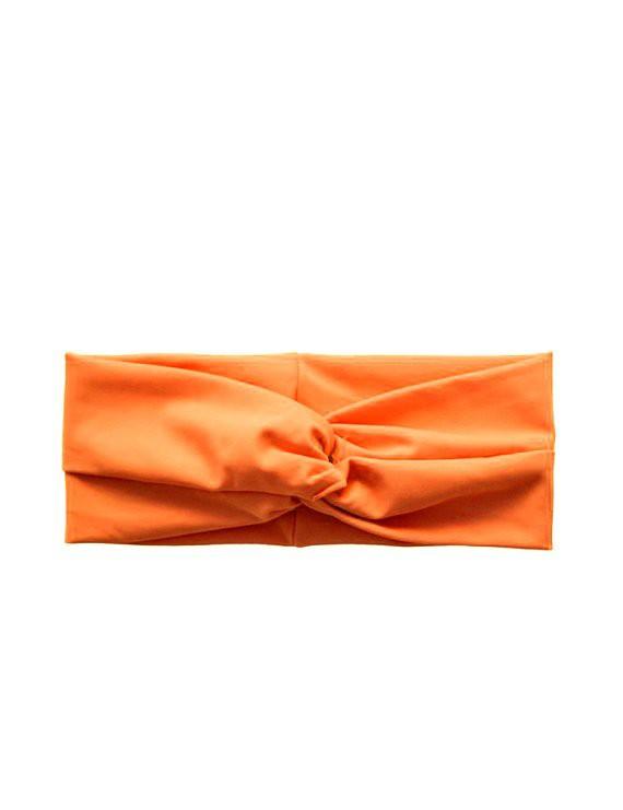 Cintillo de lycra naranja