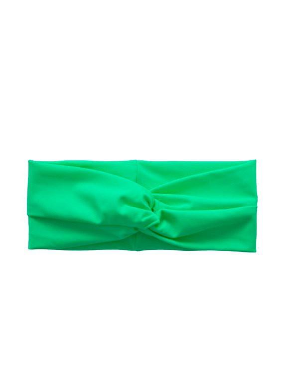 Cintillo de lycra verde