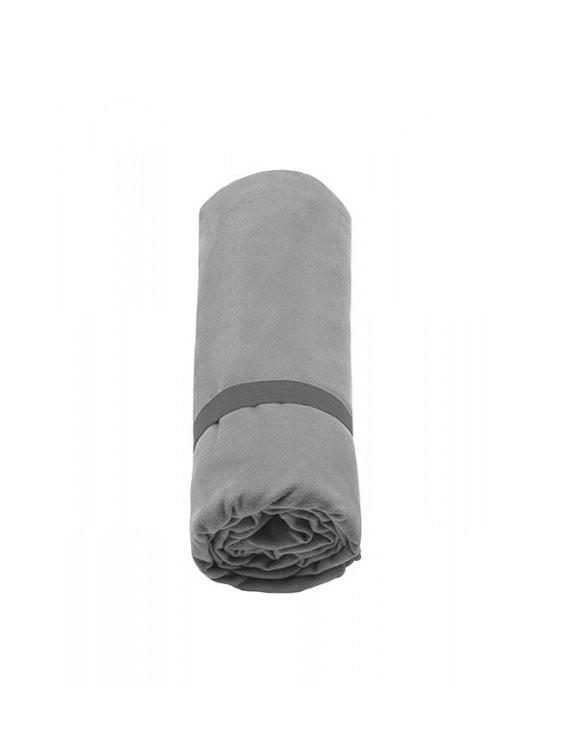 Toalla de microfibra antibacterial grande gris