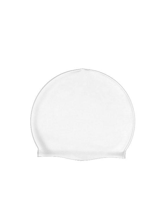 Gorro de natación de silicona blanco