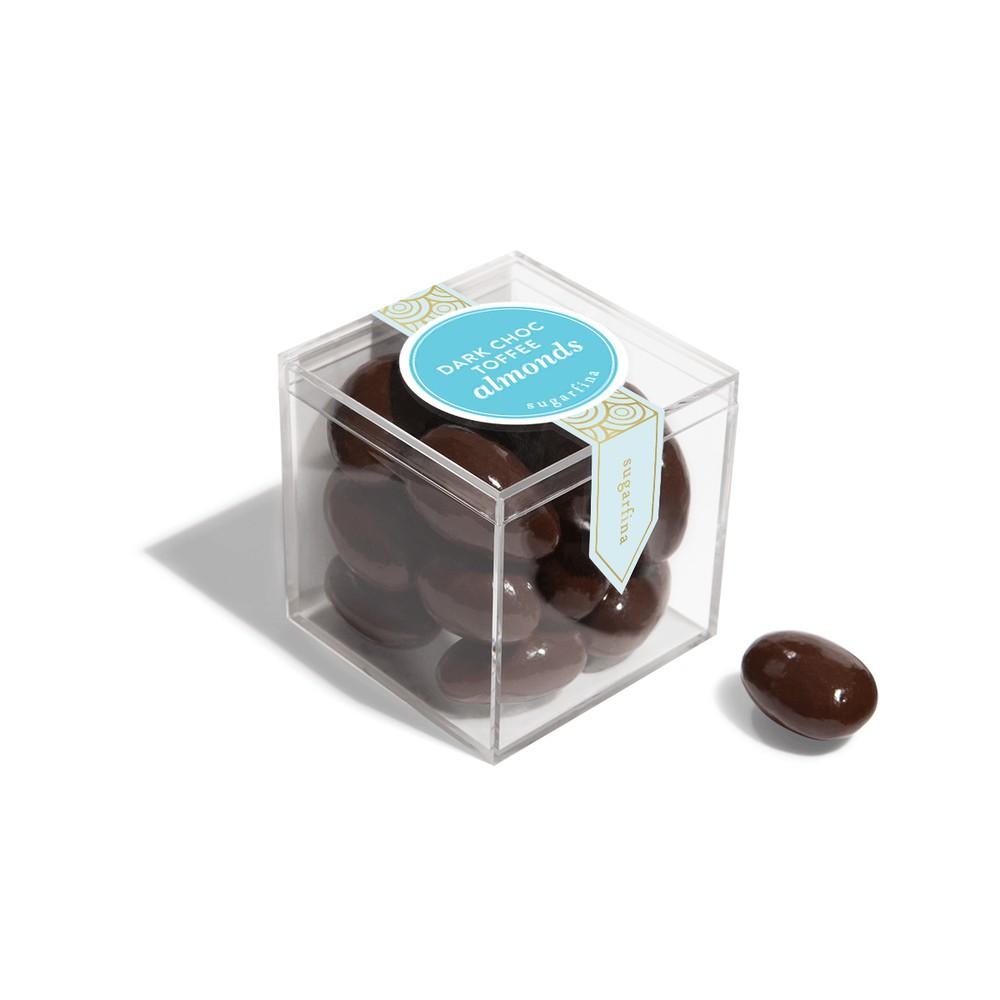 Dark chocolate toffee almonds