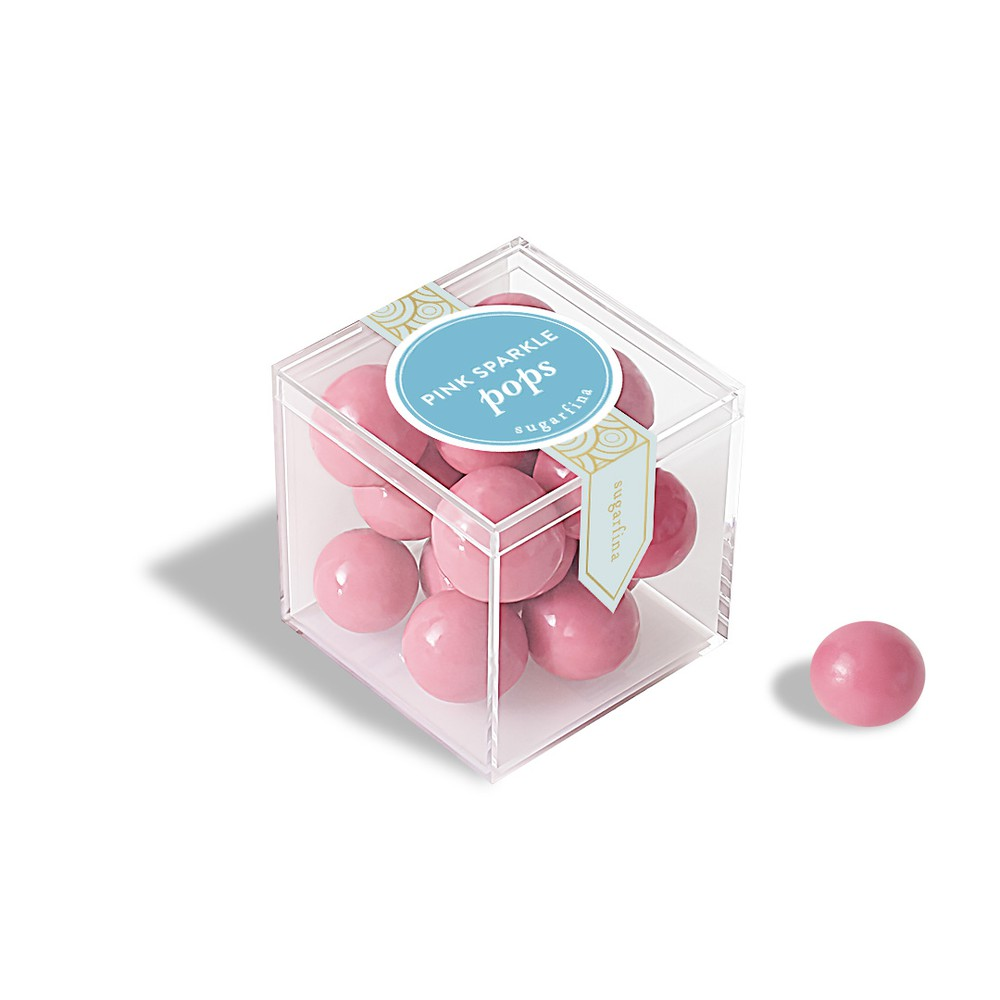 Pink sparkle pops