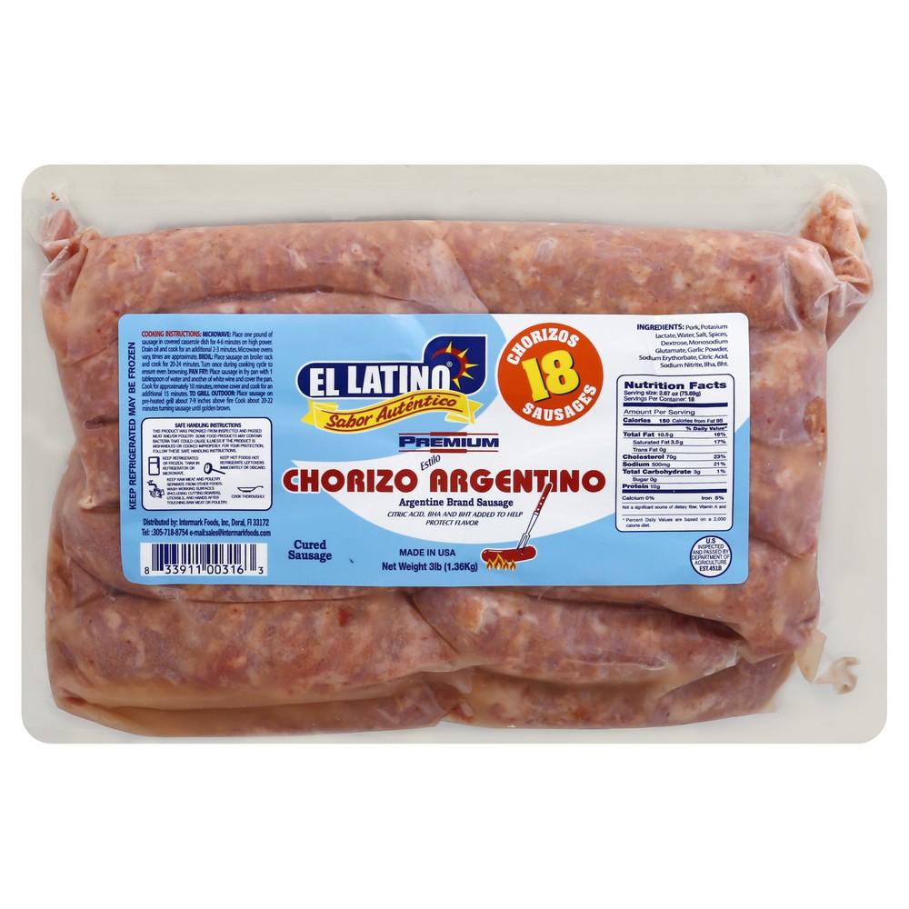 Chorizo Argentino/Argentinian Sausage 3 lbs